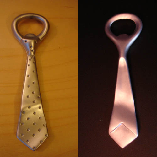 Tie bottle opener